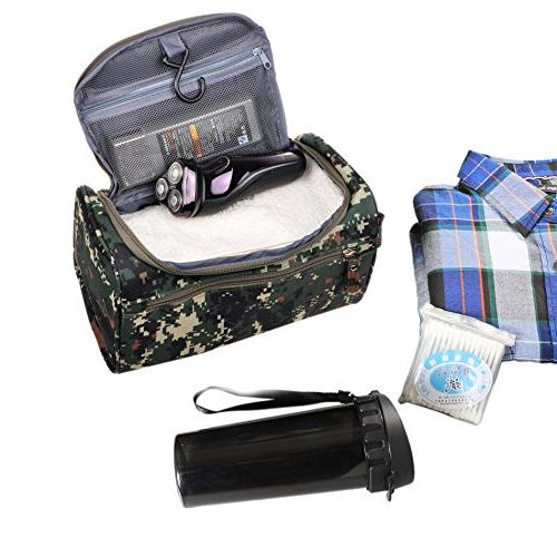 Mens Shaving Toiletry Bag Small Hanging Wash Organizer Dopp Kit Travel Accessories, Mosaic