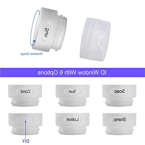 Silicone Bottles Proof Toiletry FDA,TSA Travel with Toothbrush Cover,Labels Clear Bag for Shampoo,Lotion,Conditioner