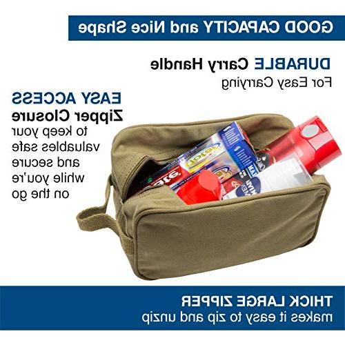 Beard the F Canvas Shave Travel Toiletry Bag Olive