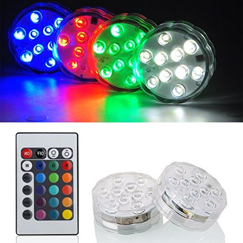 submersible lights battery operated rgb