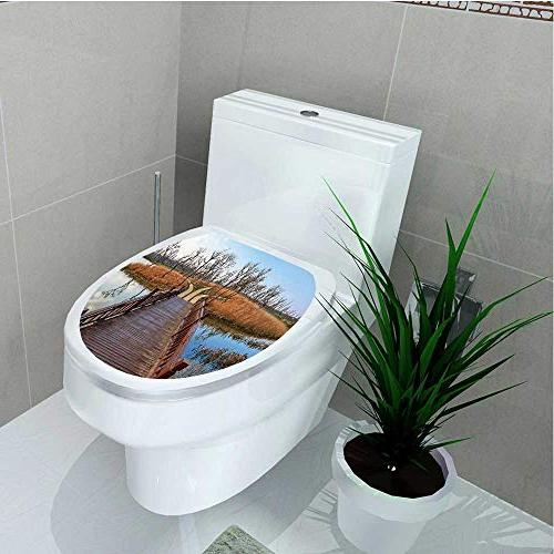 toilet seat wall stickers paper