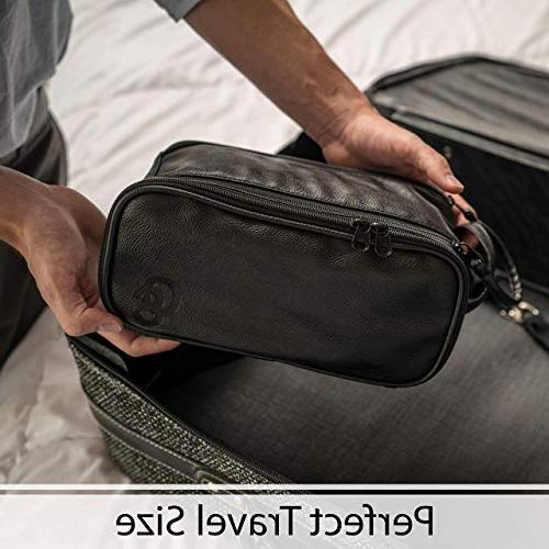 Toiletry or - Dopp Kit Free Toiletries Organizer PU Leather