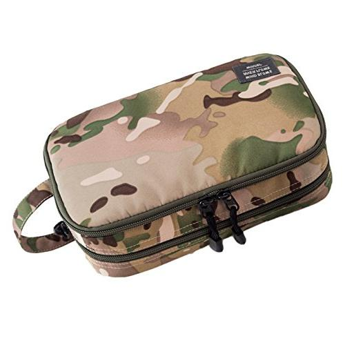GOHIGH Travel Organizer Bag Canvas Shaving Kit with Double