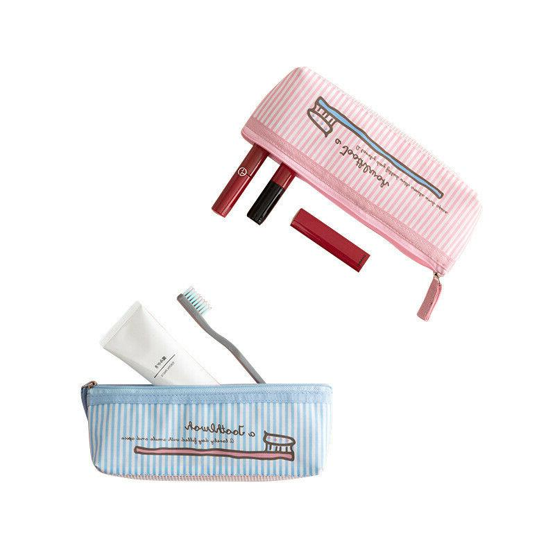 Toothbrush Cosmetic Travel Bag Storage Pouch Kit