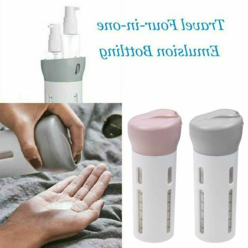 Travel 4-In-1 Refillable Lotion Cream Container Kit