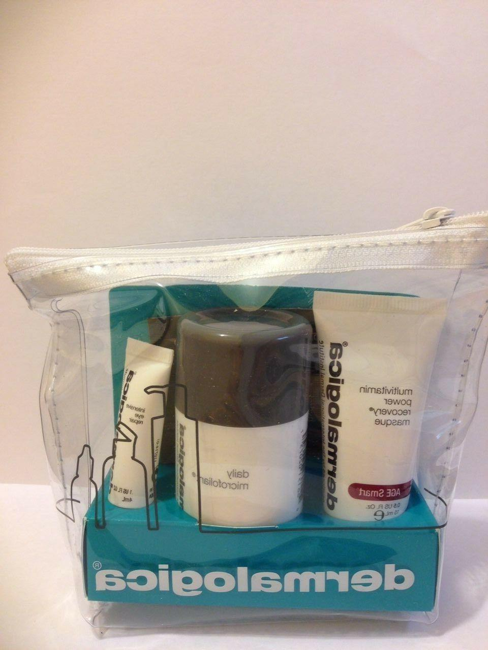Dermalogica travel kit 3 products:intensive eye,daily microf