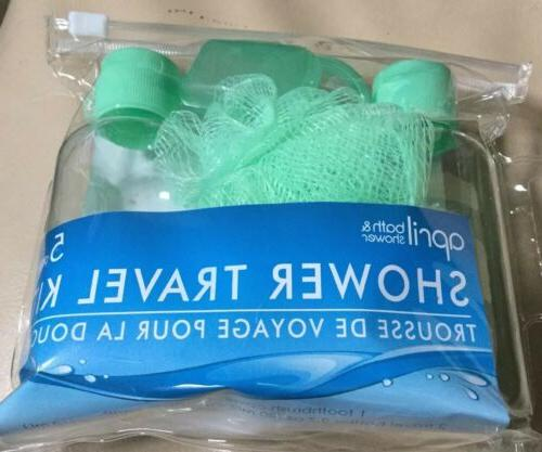 April Shower Kit 5 Pk Green Clear Toothbrush