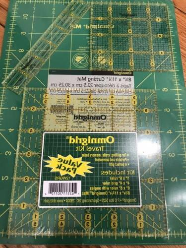 OMNIGRID Pack Includes 1 Mat & 3 Rules