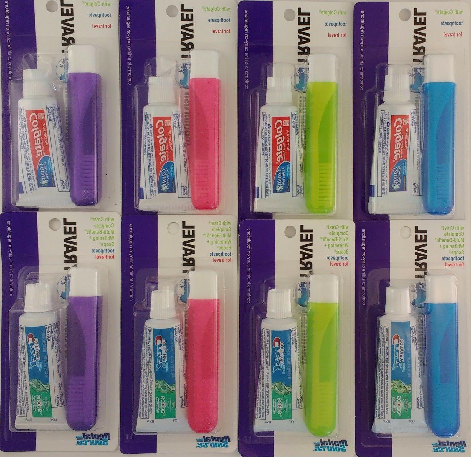 travel toothbrush and toothpaste kit select colgate