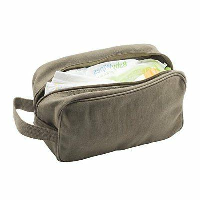 U.S. Army Canvas Shower Toiletry Bag Olive &