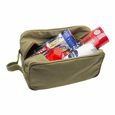 U.S. Canvas Travel Toiletry Case Olive &