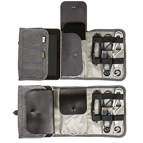 Universal Folding Bag, Optimum Cable Kit, and Roll-Up Gadgets Case, Size your Electronics