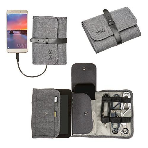 Universal Folding Bag, Optimum Kit, Pouch Roll-Up Size your Travel Electronics Accessories