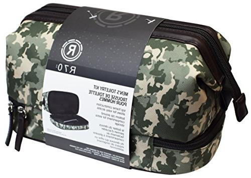 waterproof camo toiletry bag grooming