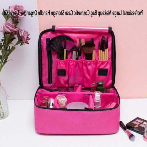 Large Bag Cosmetic Case Handle Travel Kit US Care