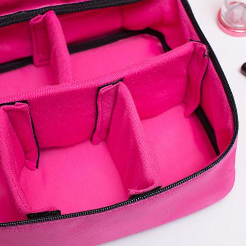 Women Makeup Bag Cosmetic Case Storage Handle Travel