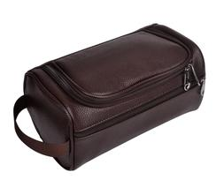 LEATHER TOILETRY BAG Lady Supply Organizer Man Shaving Acces