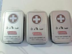 LOT OF 3  Coleman All Purpose 27 Piece .First Aid Kit, Mini
