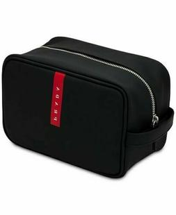 PRADA Luna rossa carbon black red toiletry bag dopp kit pouc