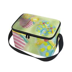 Lunch Tote Cute Slippers Mens Insulated Lunch Bag Zipper Kid