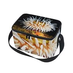 Lunch Box White Anemone And Sea Star Womens Insulated Lunch