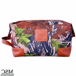 Mainstreet Camo Print Men's Dopp Kit Vintage Style Travel Lu