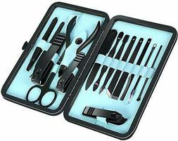15 Piece Manicure Pedicure Nail Care Set Cutter Cuticle Clip