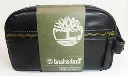 TIMBERLAND Men's Leather Travel Dopp  Kit- Black -NWT