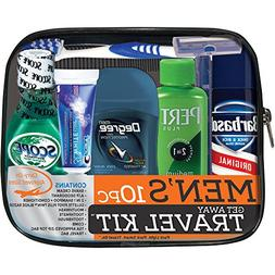 Man on the Go Men8217s Get Away Travel Kit, 10 pc traveling
