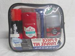 MENS 9 PIECE TSA CARRY ON OLD SPICE SWAGGER PURE SPORT CREST