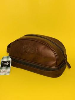 Penguin Mens Toiletry Shaving Travel Brown Charger Case Bag