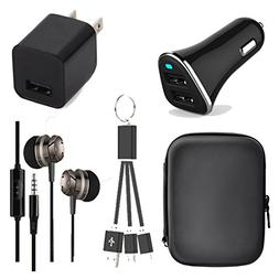 Caithly Mobiel Phone Accessory 5 in 1 charger kit,Pouch bag,