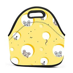xxxoiu The Mouse Neoprene Lunch Bag Thick Insulated Thermal
