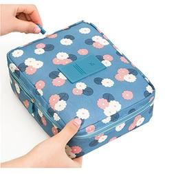 multifunction portable toiletry bag flower