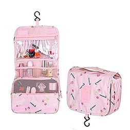 Multifunction Toiletry Cosmetic Bag Make up Kit Case Pouch H
