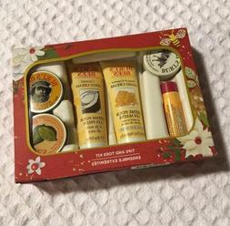 new Burt's Bees TIPS AND TOES Kit 6 Travel Size Hand Foot Cr