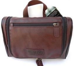 NEW men's PENGUIN brown dopp shaving kit travel toiletry bag