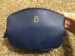 NEW! DOTERRA Navy Blue Leather Zippered Pouch/Case