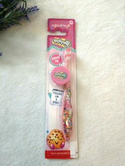 NEW SHOPKINS Brush Buddies Travel Kit Toothbrush Soft Pink w