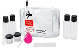New - Cableinthebay TSA Approved Clear Travel Toiletry Bag-Q
