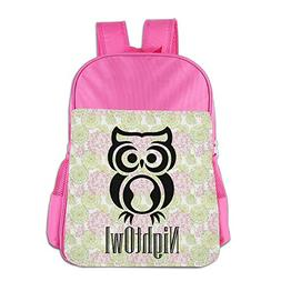Mskifnaf Night Owl Kids Backpacks School Bags for Children K