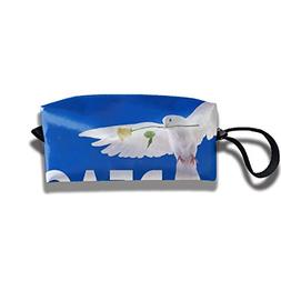 Nylon Peace Dove Flag Made in The USA Cosmetic Bag, Portable