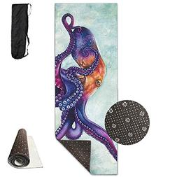 Octopus Ocean Nautical Printed Yoga Mat Towel Beauty Non-Sli