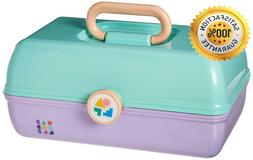Caboodles On-The-Go Girl Sea Foam Lid And Lavender Base Vint