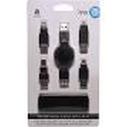 ONN ONA17HO017 4-in-1 USB Cable Adapter Kit with Travel Bag