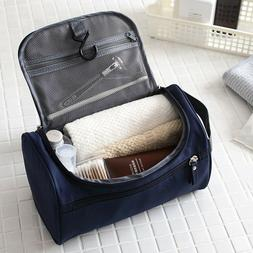 Black Hanging Toiletry Kit for Travel, Slim Toiletry Bag fo
