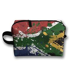 RONG FA Paint Daubs South African Flag Portable Travel Makeu