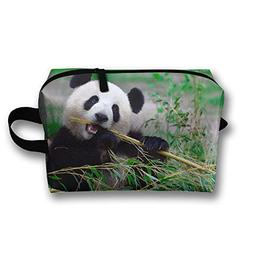 RONG FA Panda Bear Portable Travel Makeup Bag,Storage Bag Po