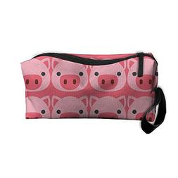 Pig Face Emoji Portable Storage Pouch Travel Makeup Bag Oxfo