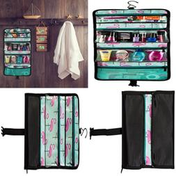 Pink-Flamingo Hanging Toiletry Bag